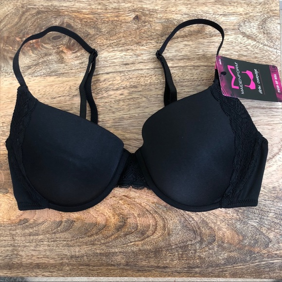 dfcbabdf32d94 Maidenform Black demi coverage 34C push up bra